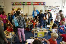 Families attend school event