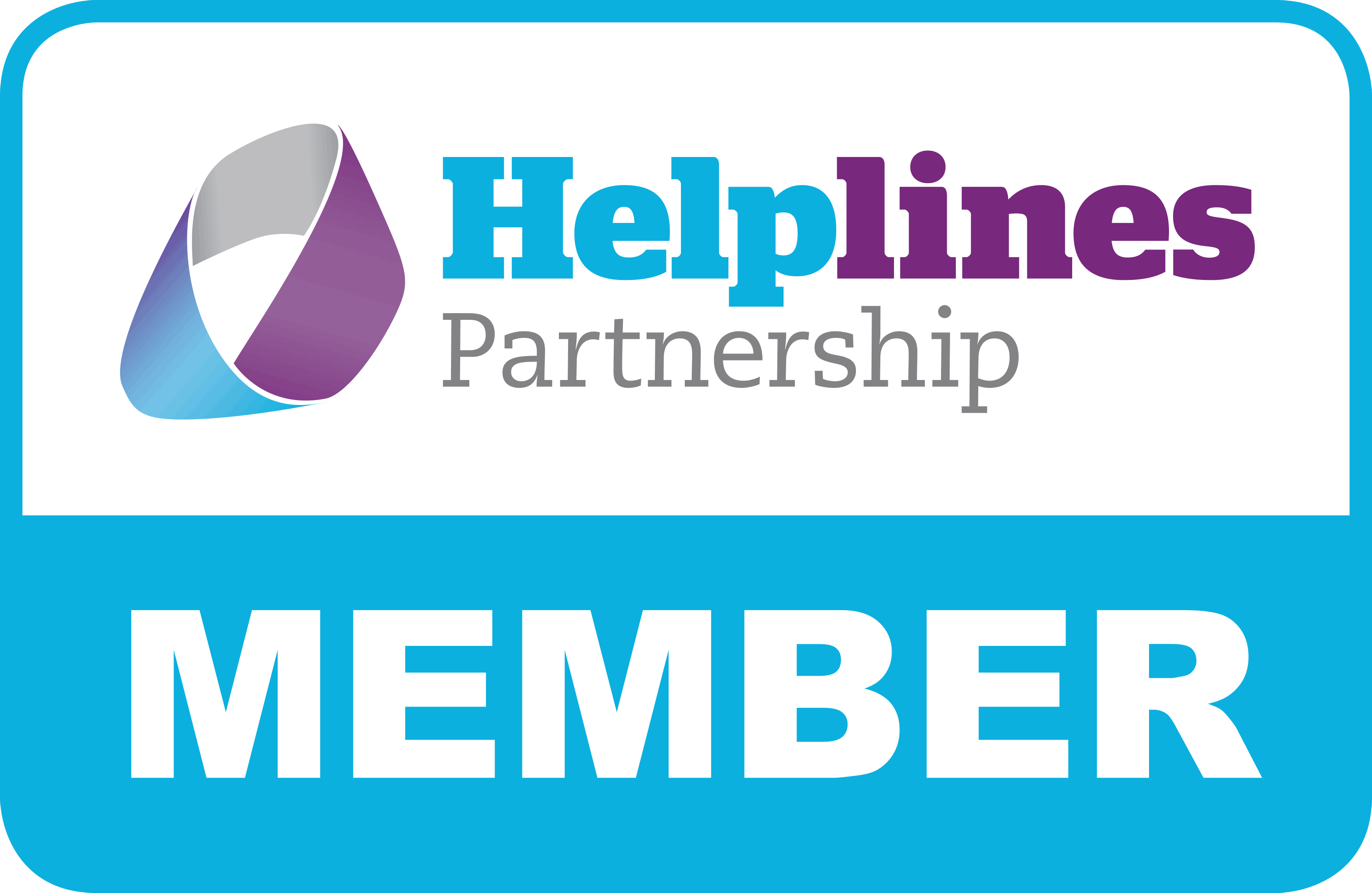 Member of the Helplines Partnership (logo)