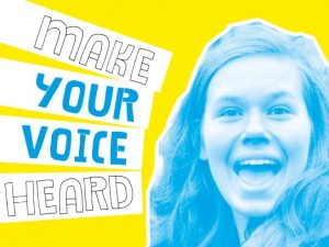 Make your voice heard Reach postcard